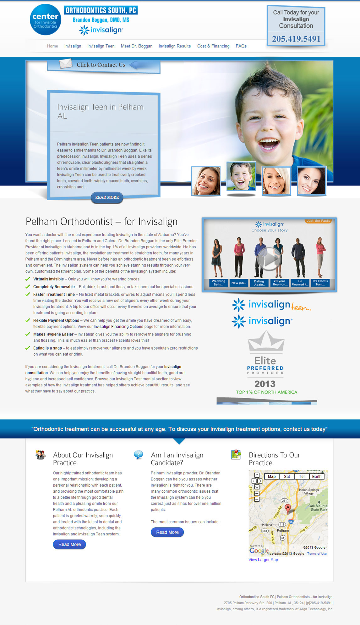 Clear Braces InfoSite by Now Media Group