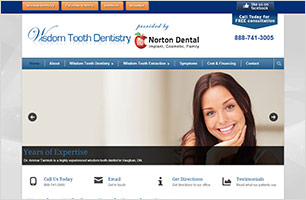 Wisdom Tooth Extraction InfoSite by Now Media Group